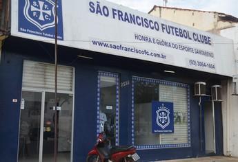 Sede do São Francisco em Santarém (Foto: Weldon Luciano/GloboEsporte.com)