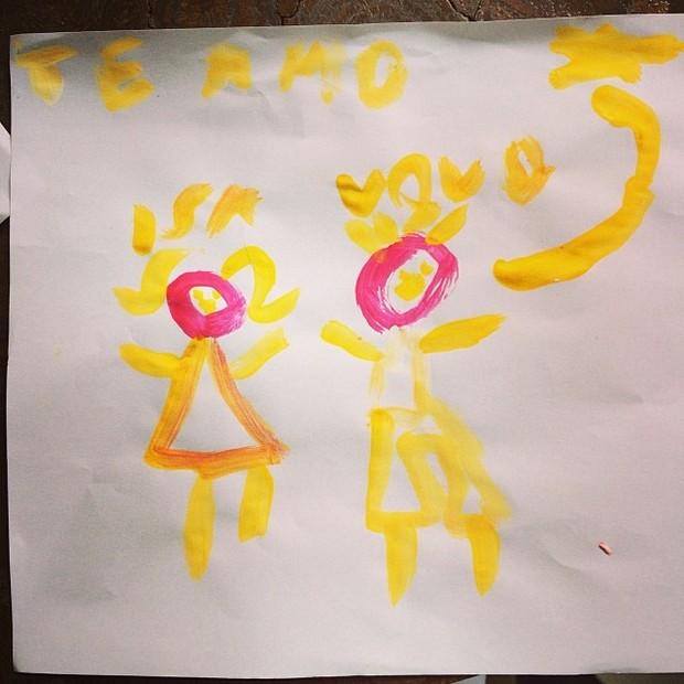 Tânia Khallil posta desenho da filha (Foto: Instagram / Reprodução)