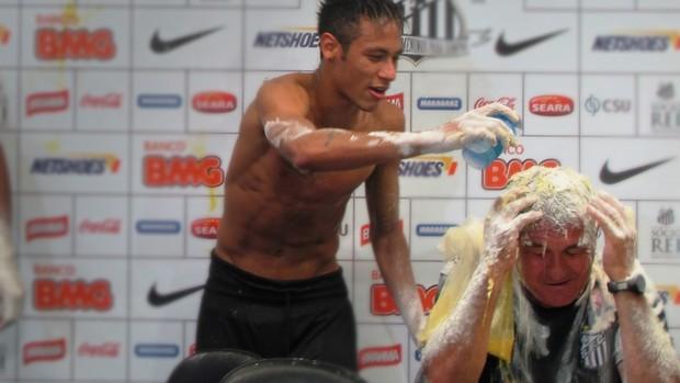 muricy ramalho santos neymar (Foto: Marcelo Hazan / GloboEsporte.com)
