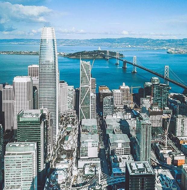 Com 61 andares, nova sede da Salesforce é o maior edifício de São Francisco (Foto: Divulgação)