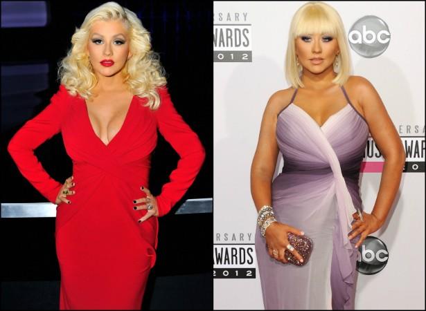 """Depois de ser detonada na mídia por causa de seu notório ganho de peso, Christina Aguilera chegou a avisar sua gravadora que ela não pretendia emagrecer. """"Vocês estão trabalhando com uma garota gorda. Saibam disso e superem"""", disse a cantora. Depois, no entanto, ela acabou emagrecendo, sem pressa. (Foto: Getty Images)"""