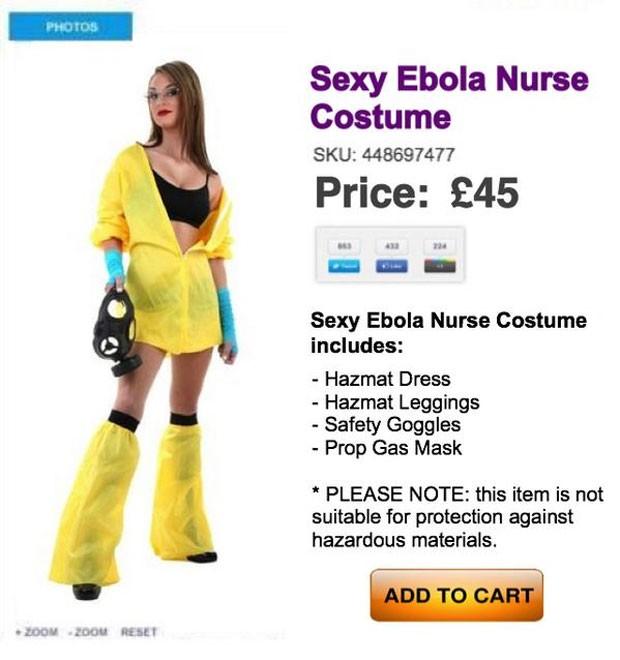 Falso traje sexy de enfermeira de Ebola criou polêmica na web (Foto: Reprodução/Reddit/Nopointhangingaround)