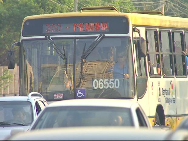 Ônibus coletivo em Cuiabá, Mato Grosso, MT- 29/10/2015 (Foto: Reprodução/TVCA)