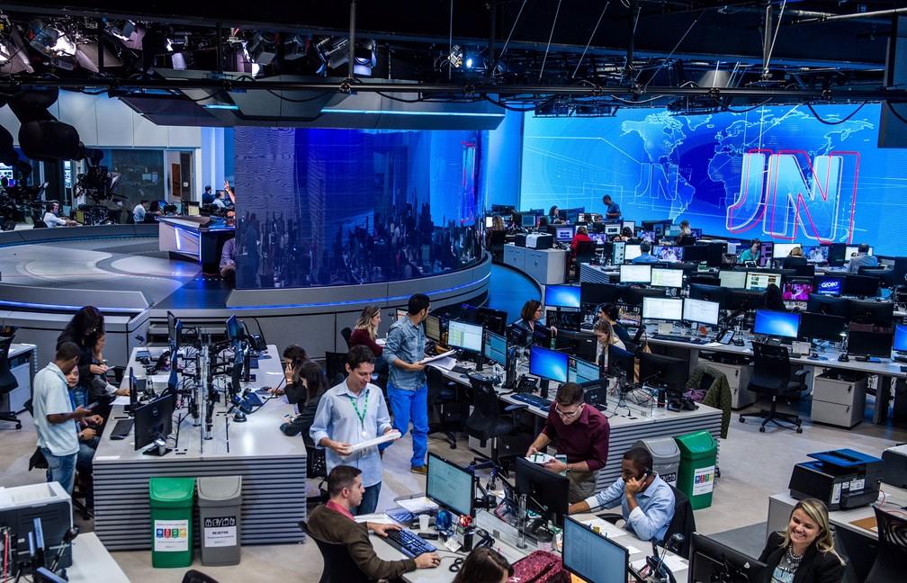 Nova redação da Globo integra jornalistas de TV e internet (Foto: João Cotta/Globo)