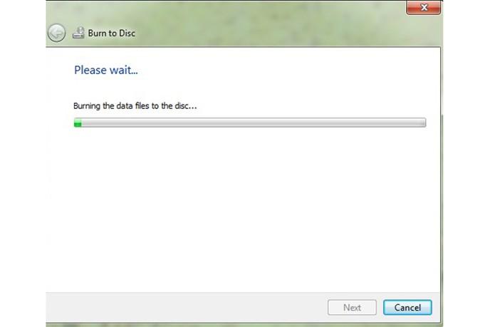 A gravação do DVD DL vai iniciar com um progresso mais lento, indicando quanto tempo vai levar no total (Foto: Reprodução/Barbara Mannara)