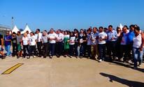 Manifestantes protestam contra nova Lei dos royalties em Campos, RJ (Priscilla Alves/ G1)