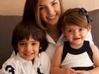 Fofuras! Carol Celico posa com o filhos: 'Estão crescendo tão rápido'