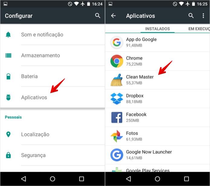 Acesse as configurações de aplicativos do Android (Foto: Reprodução/Helito Bijora)