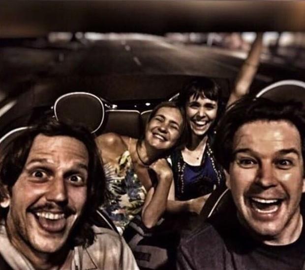 Vladimir Brichta, Murilo Benício, Adriana Esteves e Debora Falabella (Foto: Reprodução/Instagram)