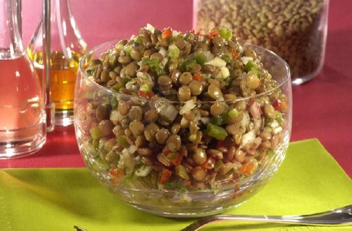 Salada Morna de Lentilha (Foto: Gshow)