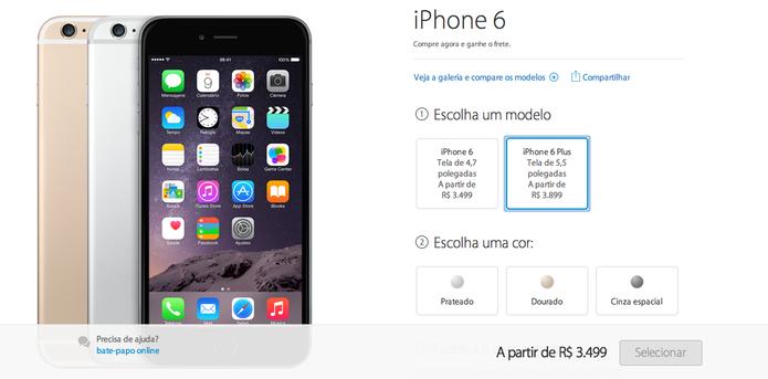 iPhones estão mais caros na loja virtual da Apple no Brasil (Foto: Reprodução / TechTudo)