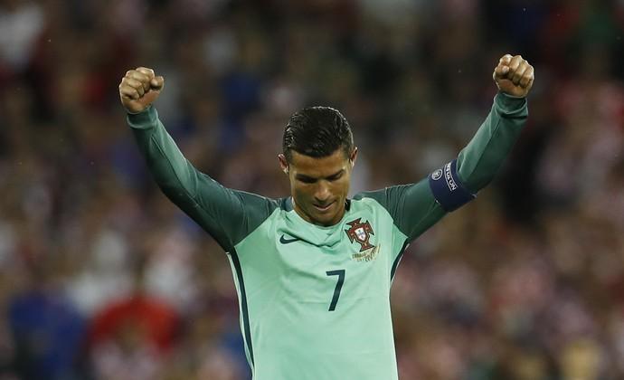 Cristiano Ronaldo Portugal x Croacia (Foto: Reuters)