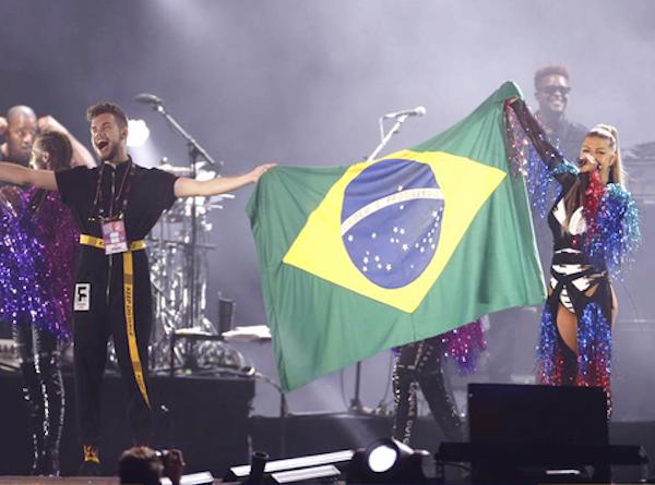 A cantora Fergie durante sua apresentação no Rock in Rio (Foto: Instagram)