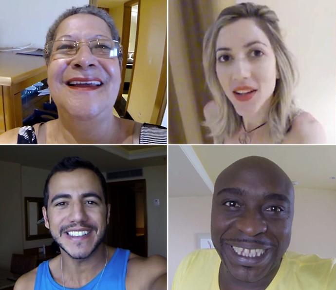 montagem raiox novos participantes madrugada casa 22_01 (Foto: TV Globo)