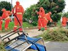 Mutirão de limpeza é realizado no Colônia Terra Nova, em Manaus