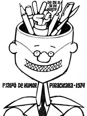 Cartaz do 1º Salão Internacional de Humor de Piracicaba (Foto: Reprodução)