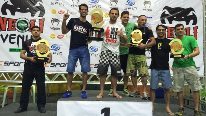 Pódio Nordeste Open de Jiu-jitsu - CheckMat (Foto: Divulgação)