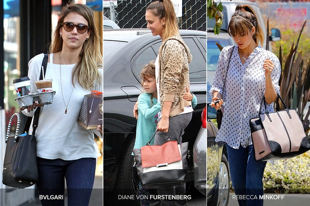 Bolsas de Jessica Alba (Foto: Getty Images | X17)