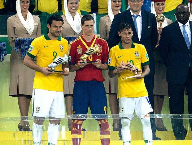 Fred Fernando Torres Neymar artilheiros chuteira de ouro Confederações (Foto: AFP)
