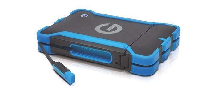 G-Drive é resistente à água e impactos, guardando as fotos em segurança (Foto: Divulgação/G-Technology)
