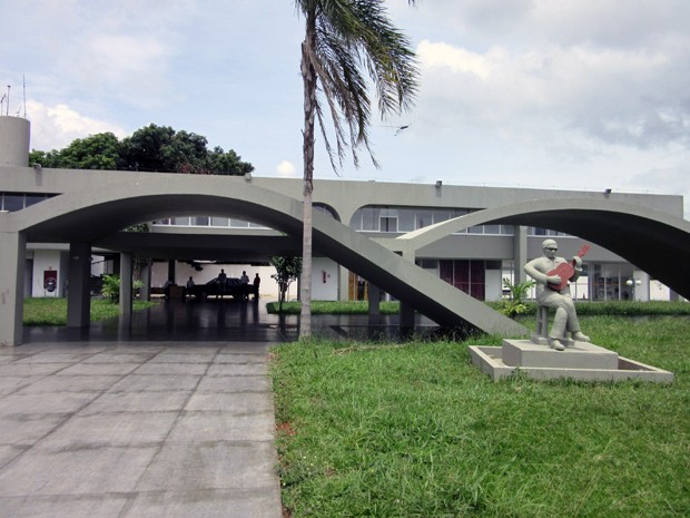 Fachada da Casa do Cantador, em Ceilândia, no Distrito Federal (Foto: Luciana Amaral/G1)