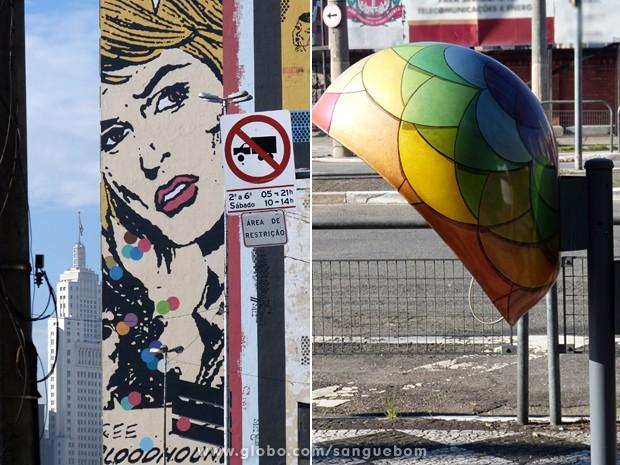 'Urban Art' transforma as ruas de São Paulo  (Foto: Sangue Bom/TV Globo)