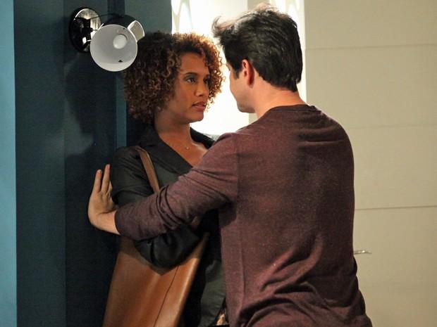 Jonas perdoa a jornalista e diz que vai dar tudo certo  (Foto: Carol Caminha / TV Globo)