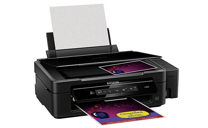 A multifuncional Epson Tanque de Tinta L355 vem com Wi-Fi e copia, digitaliza e imprime documentos (Foto: Divulgação/Epson)
