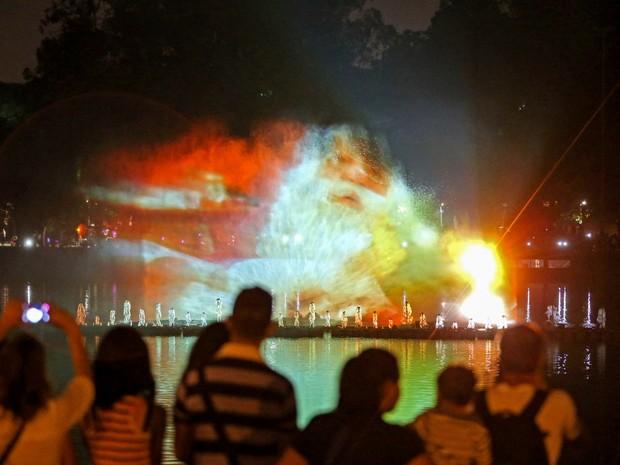 Inauguração da Fonte Multimídia do Ibirapuera (Foto: Alex Silva/Estadão Conteúdo)