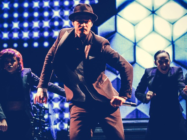 01/06 - Justin Timberlake dança durante seu show no encerramento do Rock in Rio Lisboa (Foto: Divulgação/Rock in Rio Lisboa)