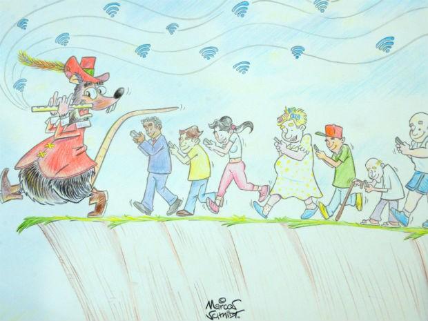 O interesse de Marcos Schmidt pelo desenho surgiu aos seis anos de idade (Foto: Assis Cavalcante)
