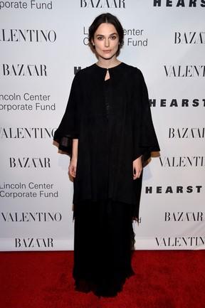Keira Knightley em festa em Nova York, nos Estados Unidos (Foto: Dimitrios Kambouris/ Getty Images/ AFP)