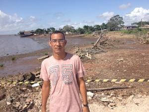 José Correa, morador há 20 anos no Aturiá (Foto: John Pacheco/G1)