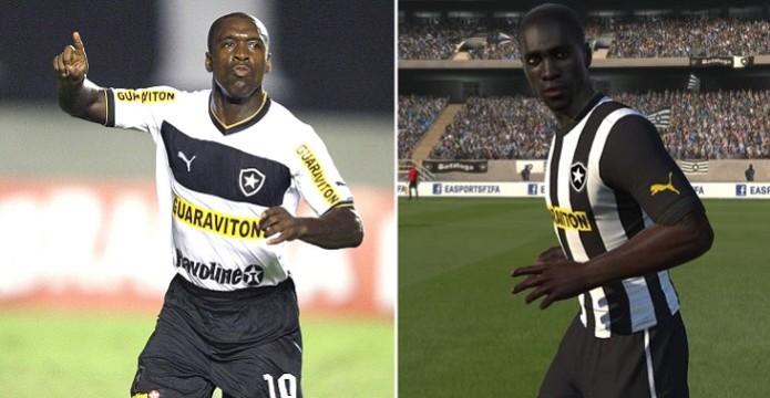 Seedorf não tem visual muito parecido (Foto: Reprodução) (Foto: Seedorf não tem visual muito parecido (Foto: Reprodução))