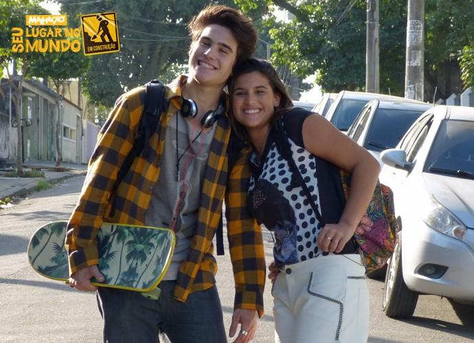 Rodrigo e Lívia, personagens de Nicolas Prattes e Giulia Costa, serão irmãos (Foto: Marcele Bessa/Gshow)