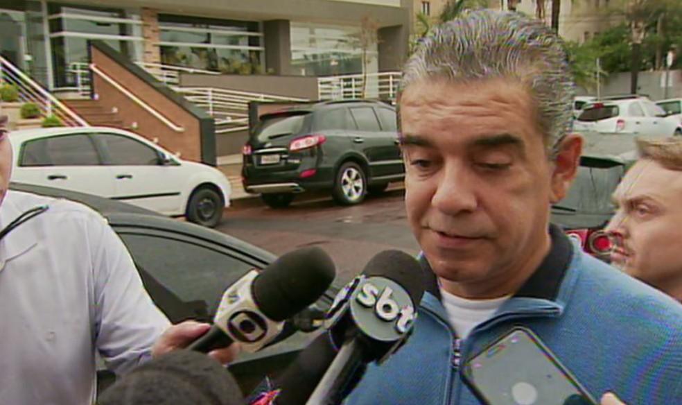Layr Luchesi Júnior se apresentou à Polícia Federal em Ribeirão Preto após perder liberdade provisória (Foto: Reprodução/EPTV)