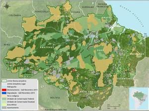 Área da Amazônia legal desmatada em novembro de 2015. (Foto: Divulgação/Imazon)