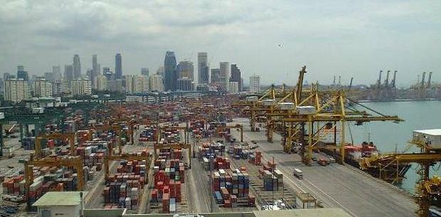 Porto de Singapura (Foto: UFRJ)