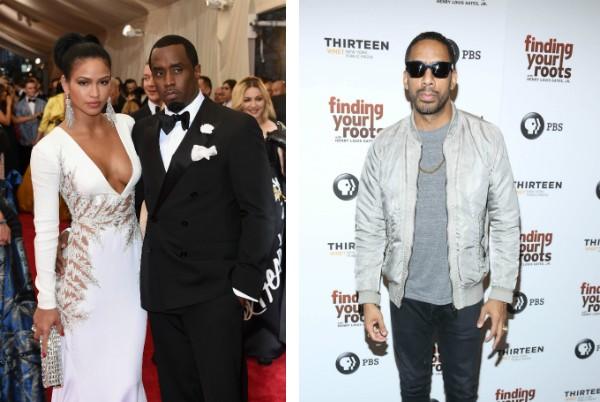 Cassie Ventura com P. Diddy e o cantor Ryan Leslie  (Foto: Getty Images)