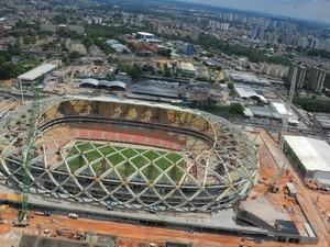 Arena da Amazônia receberá quatro jogos da Copa do Mundo de 2014 (Foto: Warrington Redman/Agecom)