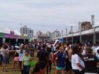 Multidão aproveita serviços do Bem Estar Global em Florianópolis