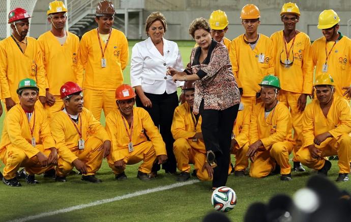 Dilma Roussef inauguração arena das dunas (Foto: Andre Dusek/Agência Estado)