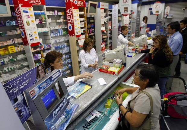 Farmácia no Chile (Foto: Reprodução/Twitter)