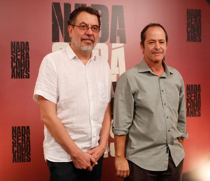 Jorge Furtado e Guel Arraes são os criadores de 'Nada Será Como Antes' (Foto: Gshow/Ellen Soares)