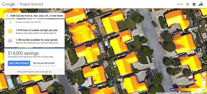 Project Sunroof pode calcular quanto de energia você vai economizar se instalar um painel solar (Foto: Divulgação/Google)