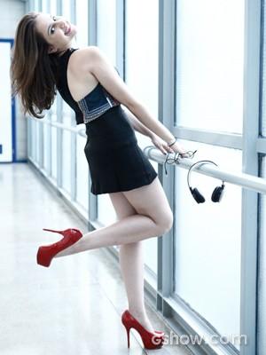 A atriz está muito feliz com o rumo da personagem (Foto: Inácio Moraes / TV Globo)