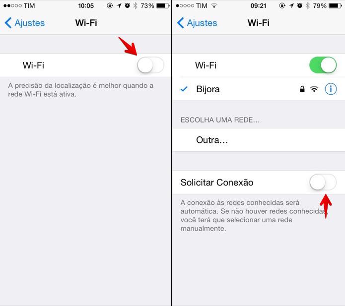 Desativando notificação de rede Wi-Fi (Foto: Reprodução/Helito Bijora)
