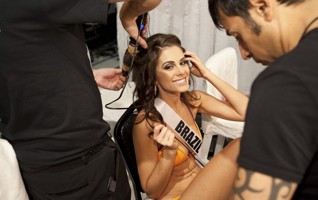 Gabriela Markus, a Miss Brasil (Foto: Frank Szelwach/Agência Reuters)