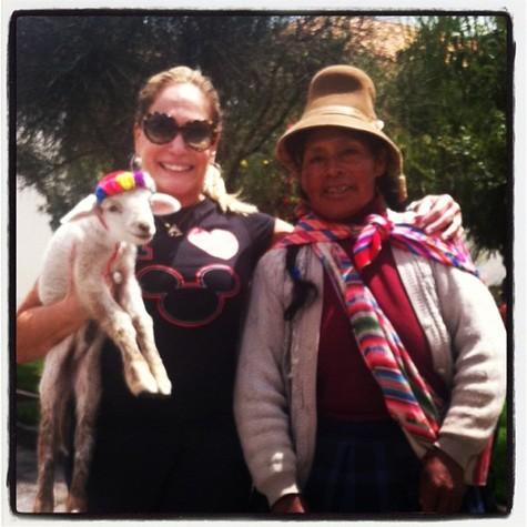 Susana Vieira no Peru (Foto: Reprodução)