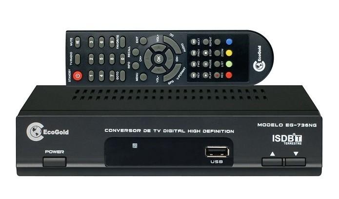 Conversor digital precisa ser compatível com modelo da TV (Foto: Divulgação/EcoGold)